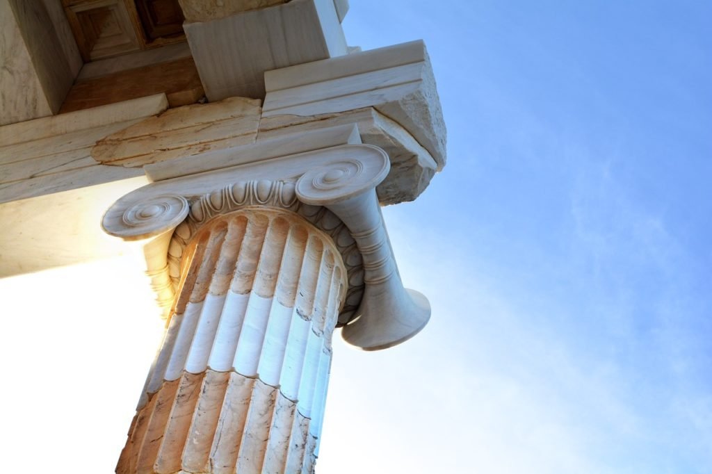 greece, column, athens